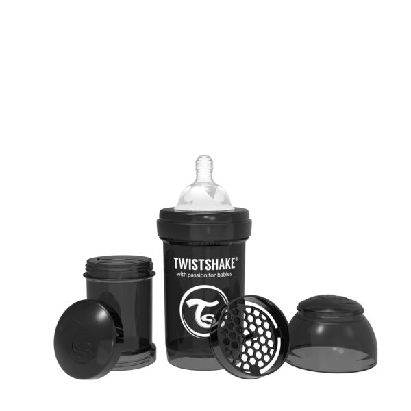 Twistshake Anti Colic Bottle 180ml Black